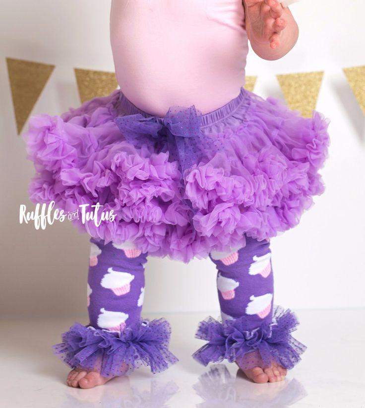 Melissa Purple Birthday Sparkle Bow Pettiskirt