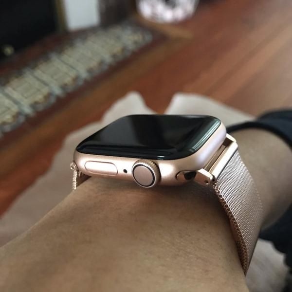 Apple Watch Series 5 4 3 2 Band Milanese Mesh Sport Loop Stainless Steel Watchband With Double Buckle 38mm 40mm 42mm 44mm Apple Watch Bands Fashion Watch Bands Apple Watch Bands Rose Gold