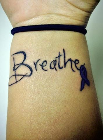 Tucker's Angels: Abbey & her tattoo  http://www.gofundme.com/helptuckerbreathe #helpTuckerBreathe #cysticfibrosis @fundtucker