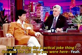 Prince during an interview on The Tonight Show with Jay Leno, February 26, 2004