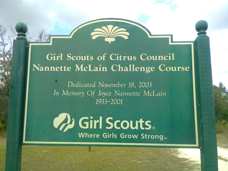 Girls Scouts challenge course