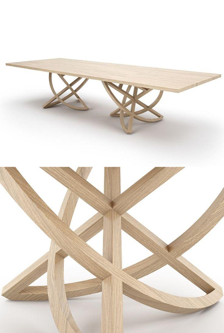 CHORUM Rectangular wooden #table by Belfakto #wood