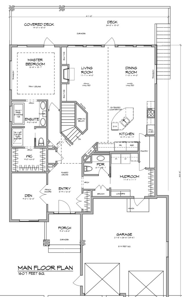 The california home plan is a 1607 sqft 1 bedroom 1 5 for Walk through shower floor plans