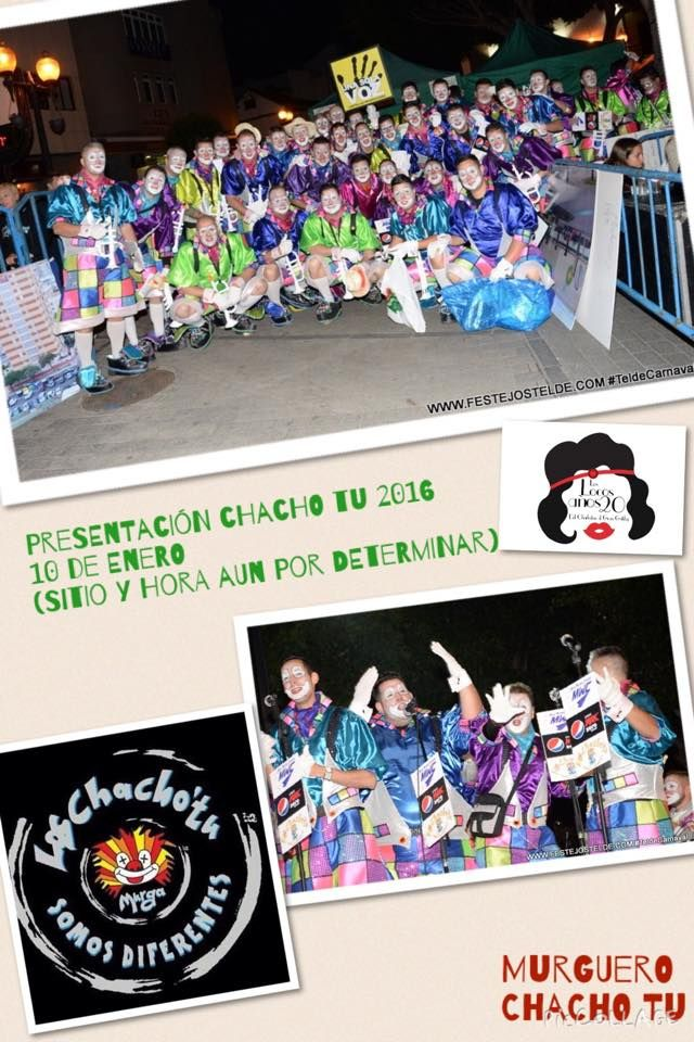 Grupo Mascarada Carnaval: Chacho Tú, ya tienen fecha para su presentación