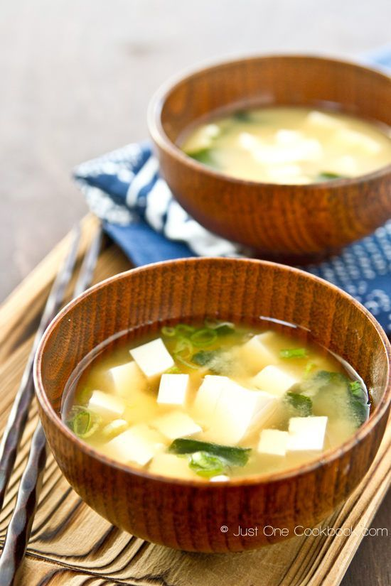 Miso Soup (味噌汁) is a traditional Japanese soup consisting of seafood based stock called dashi and miso paste. Most Japanese meals are served with a bowl of miso soup and steamed rice. Although there are many different kinds of ingredients that can be added to miso soup, today I will share the most basic miso soup recipe which include just tofu, wakame (seaweed), and green onion. | justonecookbook #Soup #Miso