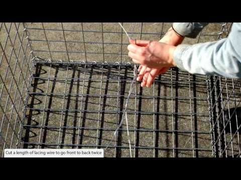 lacing wire for gabion cages - YouTube