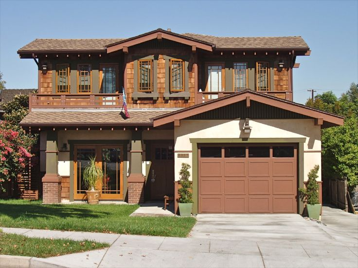 Dark Earth Tones In A Bungalow Exterior Color Selection Bungalow  Exteriorbungalow Homescraftsman. Craftsman Style House ...