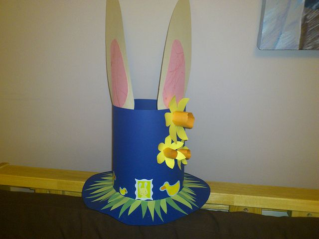 Boys Easter Bonnet. He had some help with this obviously with him only being 1 and a half at the time