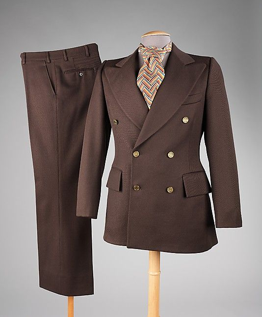 Suit Pierre Cardin (French, born 1922) Department Store: Phils Mens Shop Date: 1973 Culture: French Medium: wool