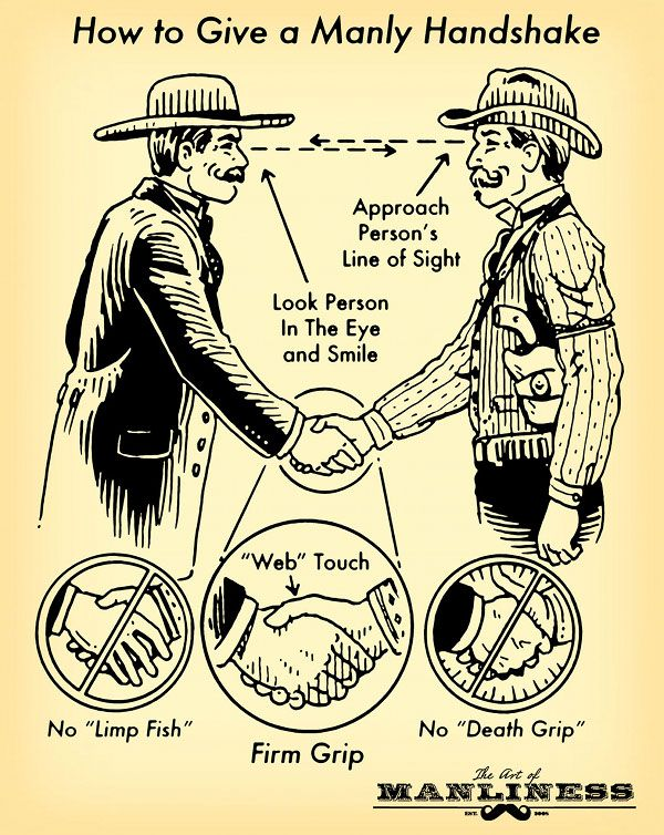 How to Give a Manly Handshake: An Illustrated Guide