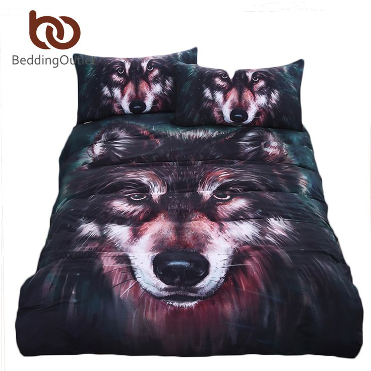 BeddingOutlet brand Wolf Bedding Set Painting 3D Vivid Duvet Cover Quality Twill Cool