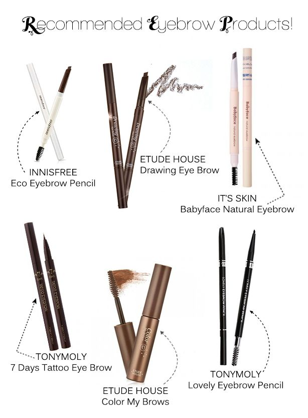 Tips,Guide and the right products to use to Get the Korean Straight Eyebrows.