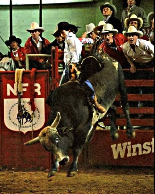 Lane Frost at the National Finals Rodeo