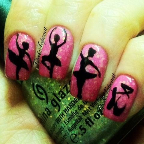 Tips and Topcoat: Ballerina Art :)