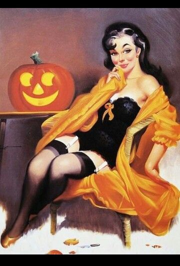 Porn halloween pin up girl vintage pictures asian caption porn