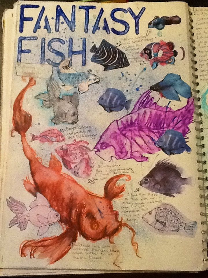 Fantasy fish title and research page (Ms Holden)