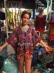 Пьер!  Индия и Таиланд море цыганский богемной национальный духовой куртки вышитые женские летние свободно халата