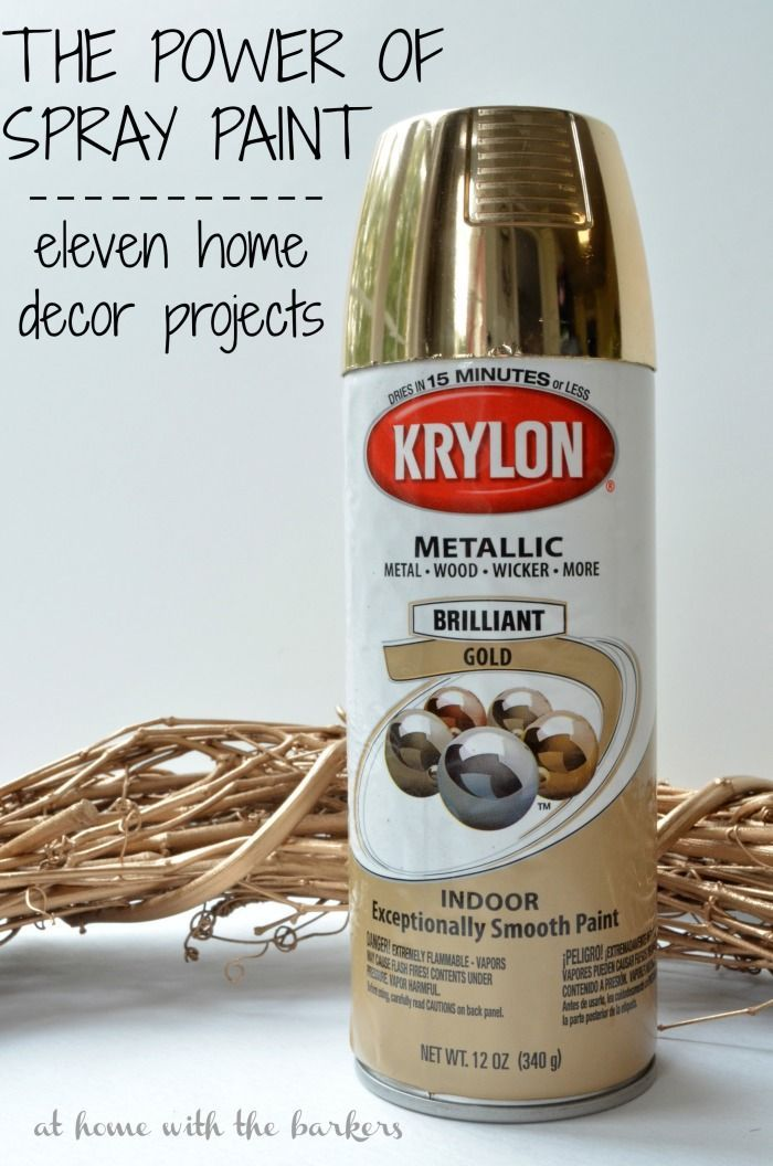 The power of spray paint and how it can transform eleven home decor projects. Quick, easy and transformed!