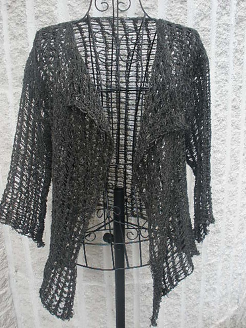 Knitting Pattern Lace Jacket : Knitting on the Fringe--Kelly Machado--Tunisian Crochet Lace Jacket crochet...