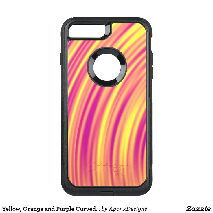 Yellow, Orange and Purple Curved Ripples Pattern