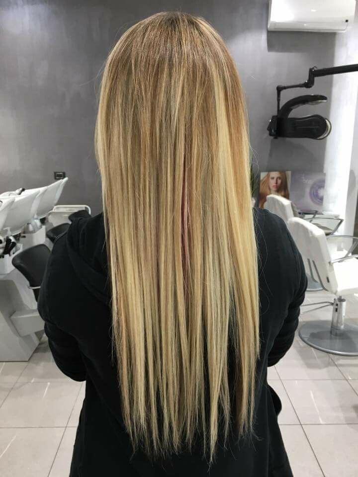 lavoro extension capelli finito #yaquelin2016 #hairstylist #curt #montaggio #taglio #piega cliente Jessica