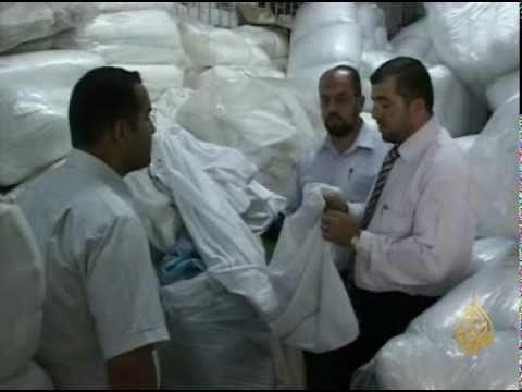 الأخبار-عربي-أدوية فاسدة وأكفان تبرعات لغزة.flv
