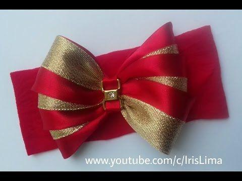 Como fazer Laço de Cetim - Laço Mil Faces para Natal / Ano Novo DIY - PAP - TUTORIAL - YouTube