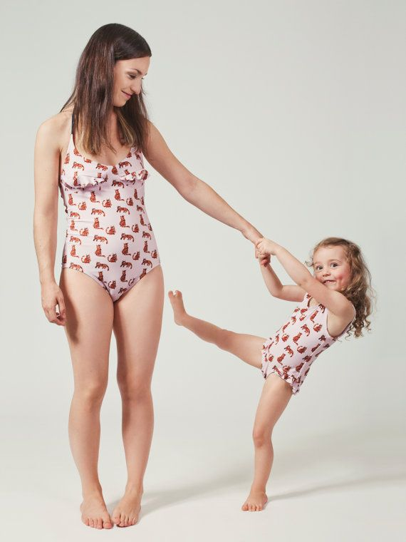 @racheleigh you and Stella may need matching swim suits for the rest of the summer! Women Cat ONE PIECE  Swimsuit  Bathing suit  by MimiHammer on Etsy, $146.00