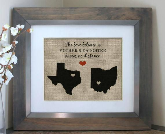 Mother Daughter Gift Gifts For Mom From Daughter Son Long Distance Relationship Gift Idea Mothers Day Map Mothers Day Gift For Mom