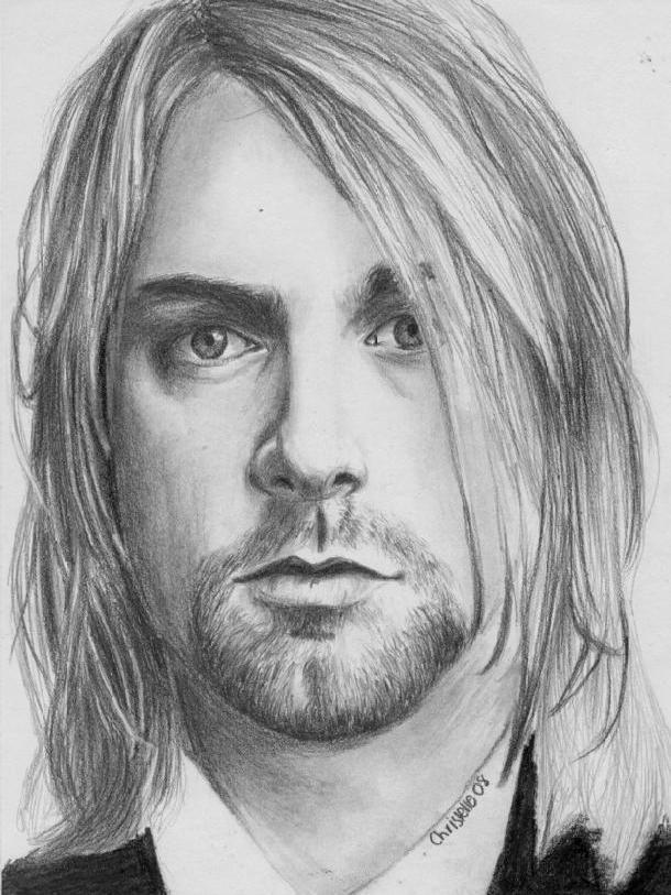 Kurt cobain grunge art and courtney love on pinterest