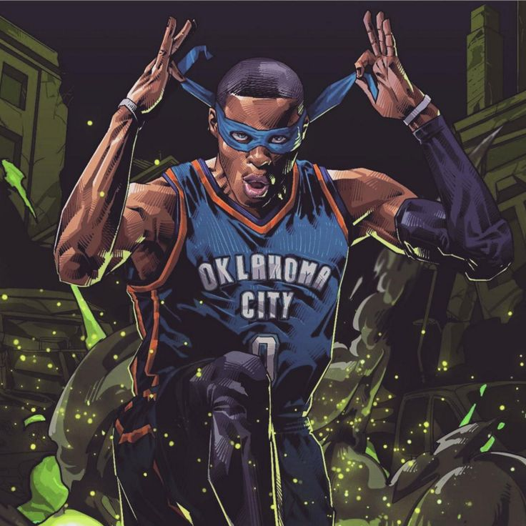 Russell Westbrook x Teenage Mutant Ninja Turtles Art
