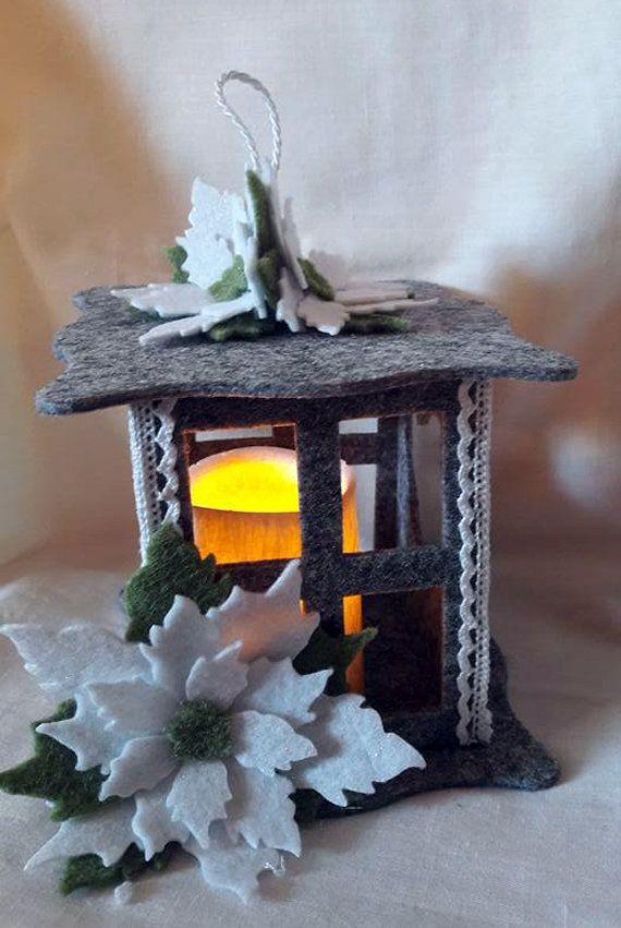 Risultati immagini per candele finte per lanterne feltro