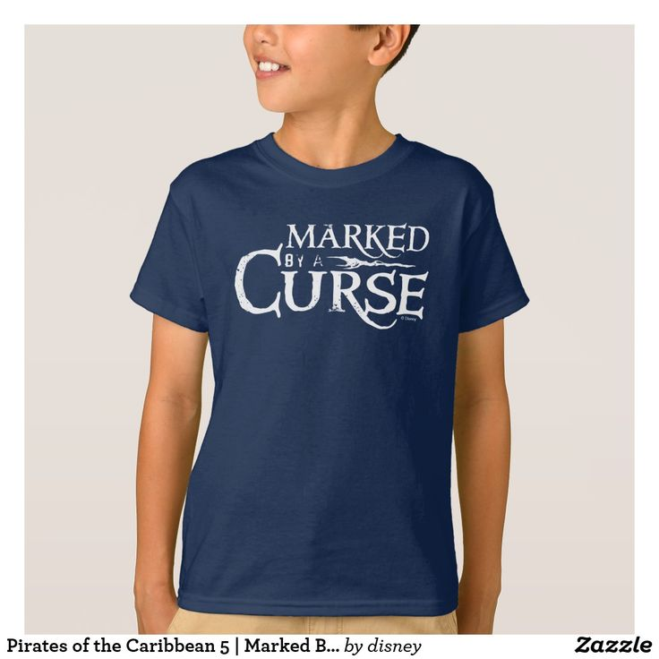 Pirates of the Caribbean 5 | Marked By A Curse. Customizable product available in Zazzle store. Producto personalizable disponible en tienda Zazzle. #camiseta #shirt