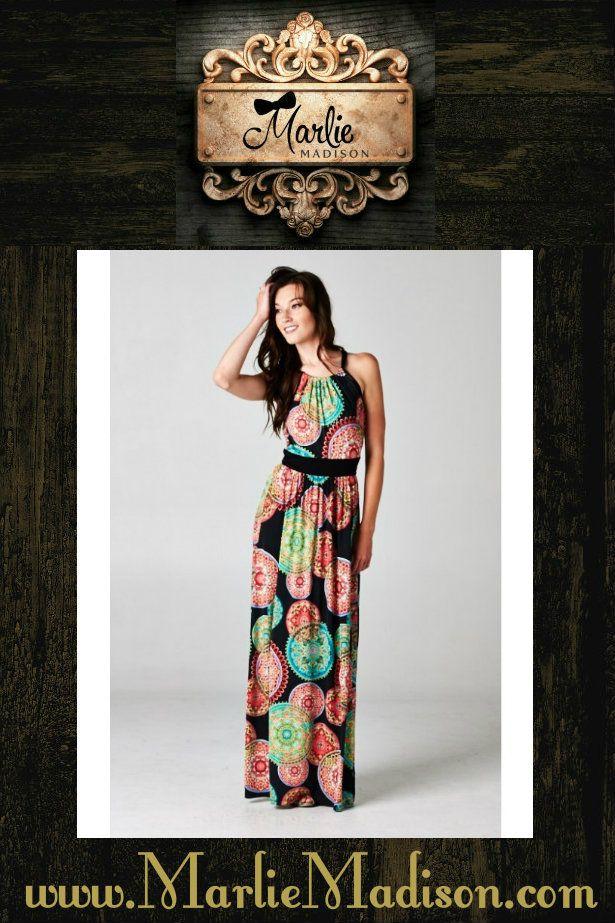 Midnight in Paris - Available in S-3XL http://www.marliemadison.com/dresses/mmb-famous-maxis/midnight-in-paris  #dress #maxidress #womensfashion #plussize #plussizefashion