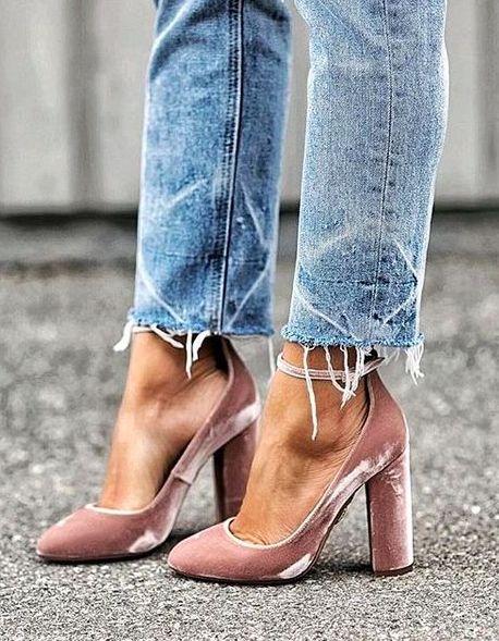 pink velvet || aquazzura