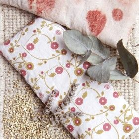 DIY: Plant Dyed Eye Pillow Filled With Buckwheat + Lavender