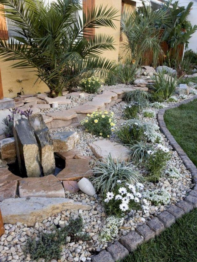 24 Stunning Small Rock Gardens You Need To See Rock Garden Rock Garden Landscaping Front Yard Landscaping