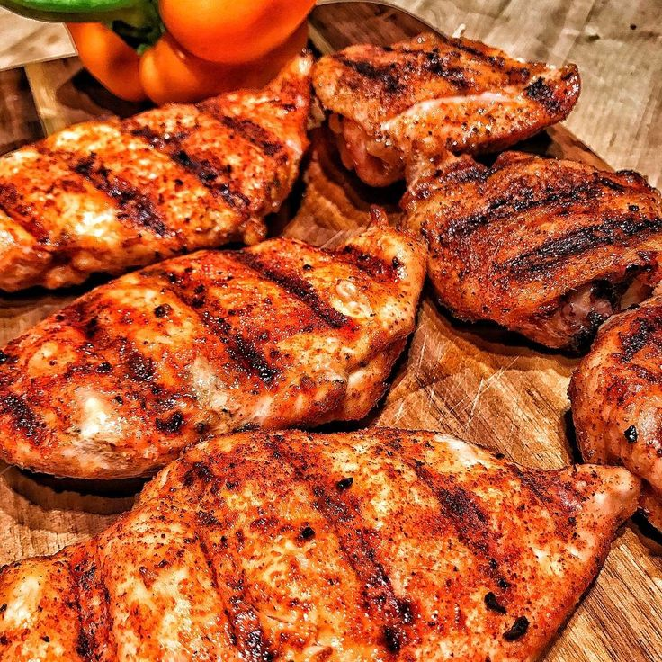 """Chicken. Cajun Chicken. . Hot and fast on the Traeger. """"You mean like a BBQ? Yeah... like a BBQ."""" Dark or white meat - doesn't much matter - both juicy and delicious. . @traegergrills @traegergrillscanada #traegergrills #traegernation #traeger #chicken #juicy #cajun #traegerpro #teamtraeger #ambassador #bbq #grill Reposted Via @bbqwithdrew"""