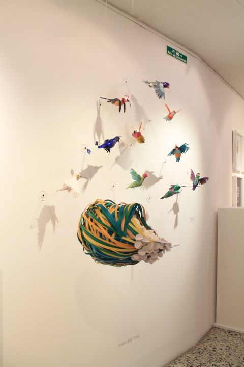 Flock around and take a gander at this whimsical collection of paper craft bird sculpture by diana beltran herrera