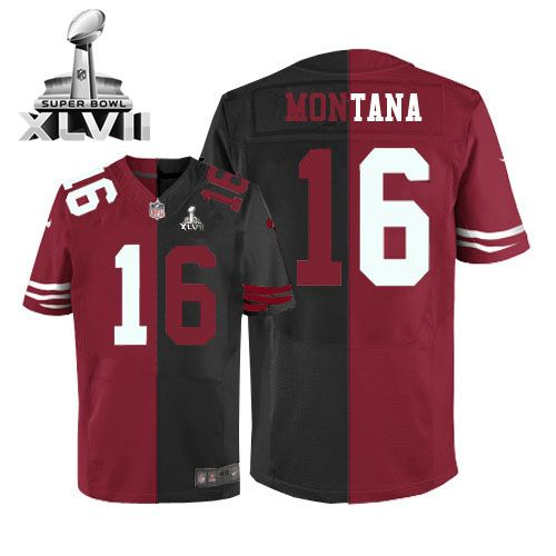 brand new 75098 21989 16 game joe montana san francisco 49ers mens super bowl ...
