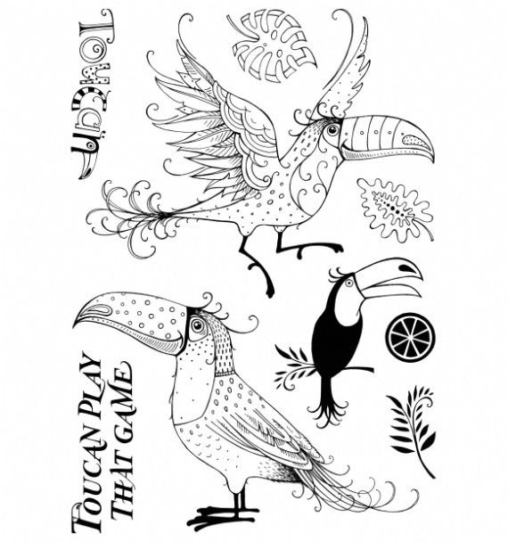 Art Impressions Toucan Rubber Stamp