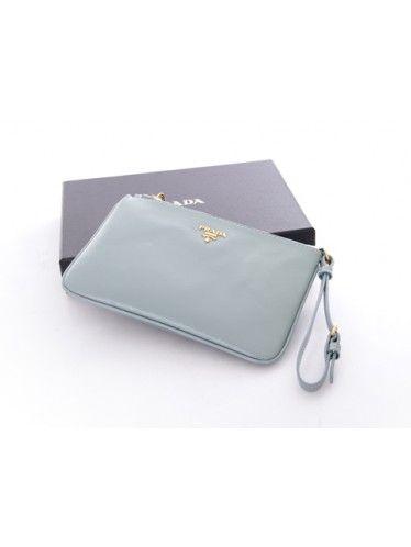 Prada 1N1530 Wallets in Aqua Blue