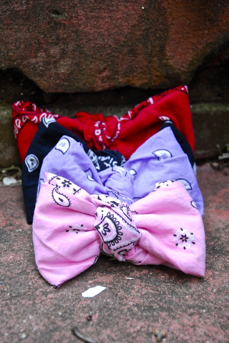 how to make a bow from a bandana