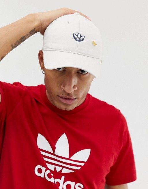 1a3ffc4b adidas Originals Samstag Dad Cap in White in 2019 | Adidas | Dad ...