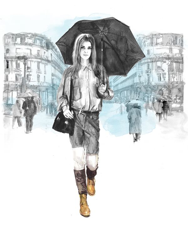 Several fashion illustrations