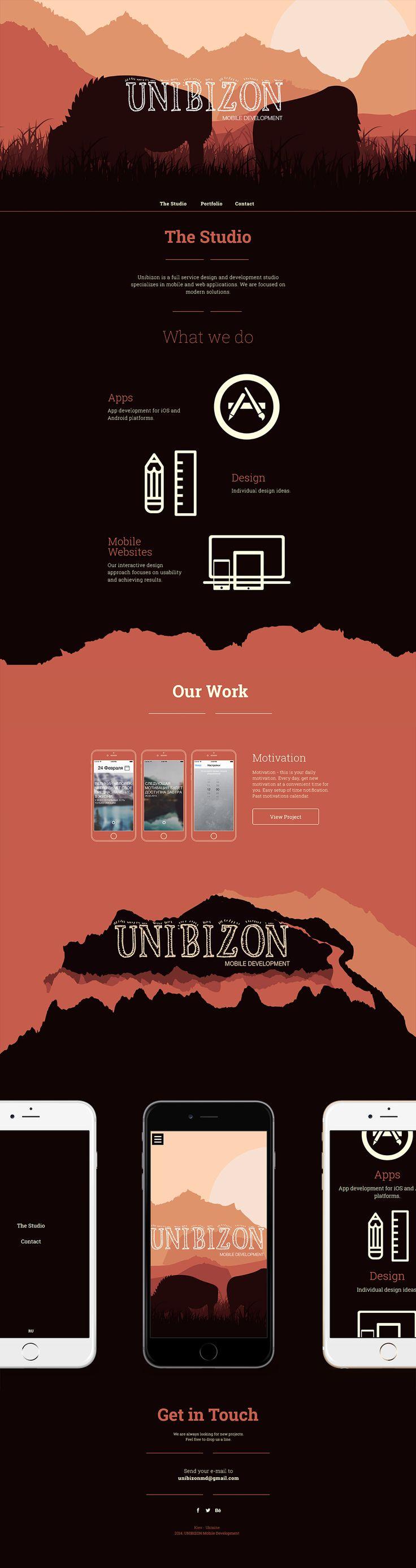 Unibizon. Recreate a scene of 10,000 BC. #webdesign #design (More design inspiration at www.aldenchong.com)