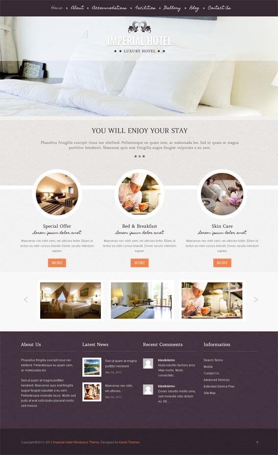 Imperial WordPress Theme by Premium Themes, via Behance