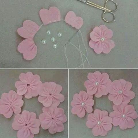 Flores de tela....