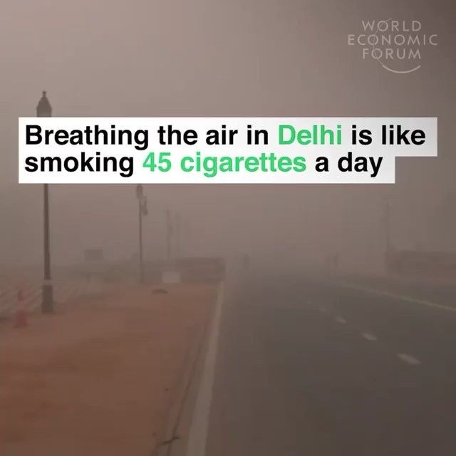 This is what happens when pollution is not regulated. . Via World Economic Forum #pollution #cleanair #smog #newdelhi #india #air #breath #health #sustainable #sustainableliving #sustainability #overpopulation #awareness #education #conservation #protection #rescue #green #gogreen #cleanenergy #fossilfuels #ecofriendly #earth #climatechange #nature #environment #makeourplanetgreatagain