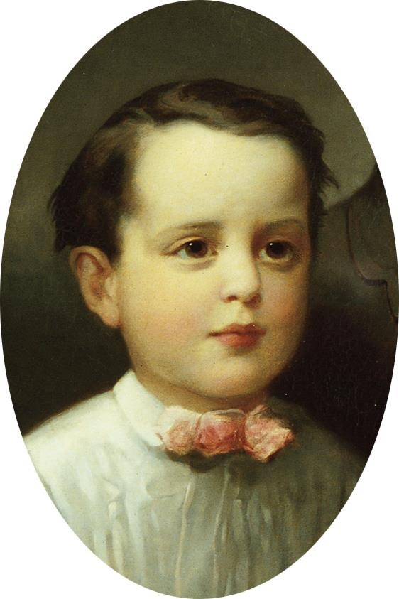 Childhood portrait of George Washington Vanderbilt, master of ...